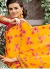Haute Printed Yellow Classic Saree - 1