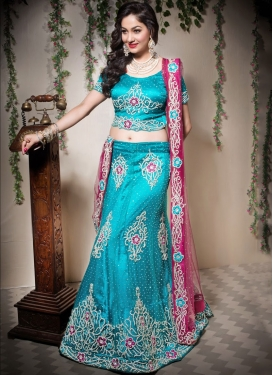 Heavenly Light Blue Designer Lehenga Choli