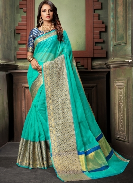 Heavenly Weaving Cotton Silk Designer Saree