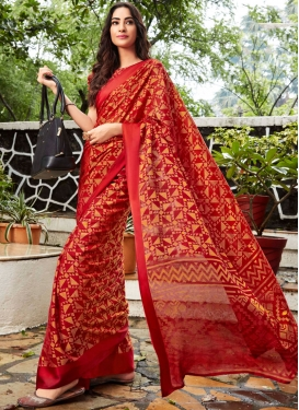 Honourable Abstract Print Ceremonial Printed Saree