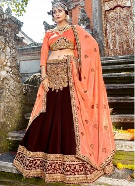 Honourable Art Silk Embroidered Designer Lehenga Choli