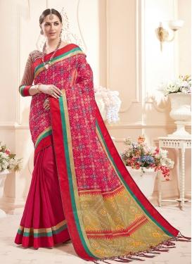 Honourable Print Art Silk Designer Saree