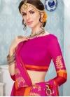 Rose Pink Art Silk Cotton Traditional Saree - 1