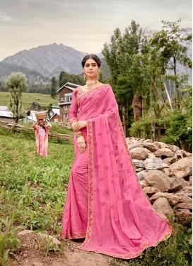 Hot Pink Resham Ceremonial Saree