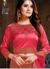 Rose Pink Satin Sangeet Lehenga Choli - 1
