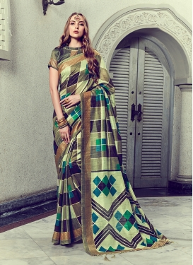 Hypnotic Art Silk Trendy Saree