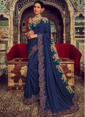 Hypnotic Embroidered Ceremonial Classic Designer Saree