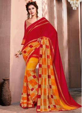 Immaculate Multi Colour Mehndi Casual Saree