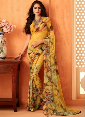 Imperial Abstract Print Casual Printed Saree