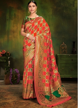 Impressive Multi Colour Festival Traditional Saree