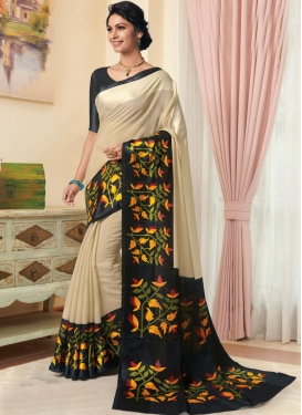 Innovative Cream Casual Designer Traditional Saree