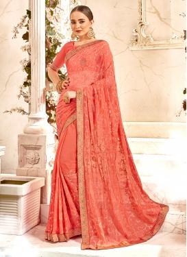 Innovative Embroidered Classic Designer Saree