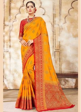 Intriguing Weaving Festival Traditional Saree