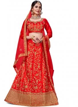 Intrinsic Red Trendy Lehenga Choli