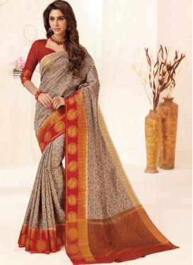 Intrinsic Tussar Silk Weaving Multi Colour Designer Traditional Saree