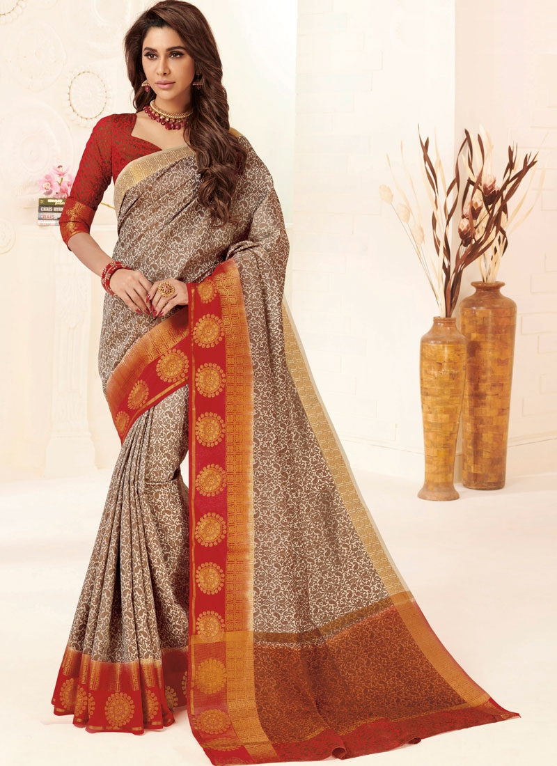 Intrinsic Tussar Silk Weaving Multi Colour Designer Traditional Saree