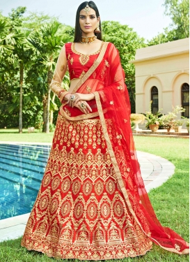 Irresistible Red Art Silk Lehenga Choli