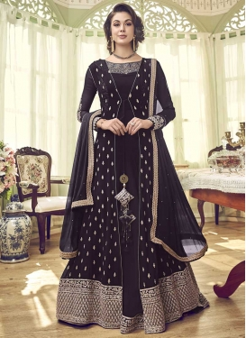 Jacket Style Floor Length Suit For Festival