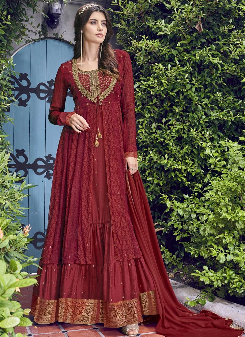 Jacket Style Long Length Suit For Festival