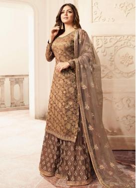 Jacquard Drashti Dhami Palazzo Style Pakistani Salwar Suit