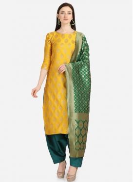 Jacquard Pakistani Straight Salwar Suit