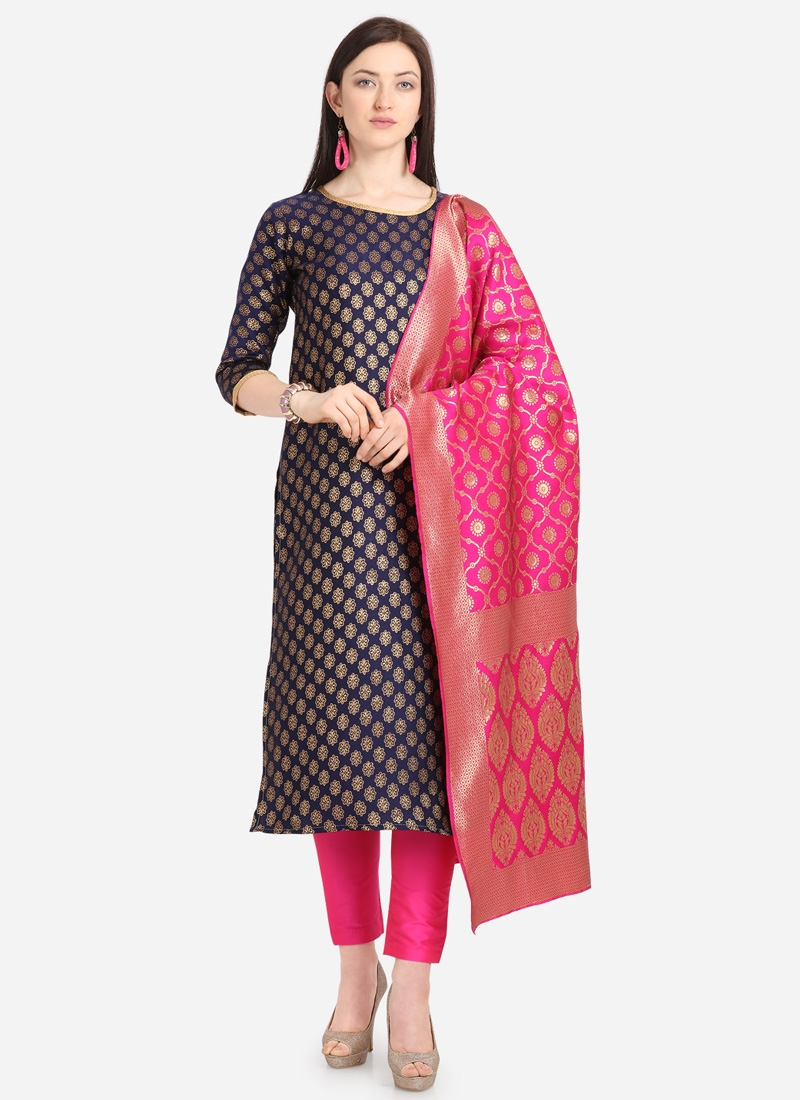 Jacquard Pant Style Classic Salwar Suit For Casual