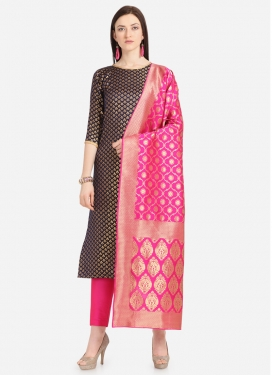 Jacquard Pant Style Pakistani Salwar Kameez For Casual