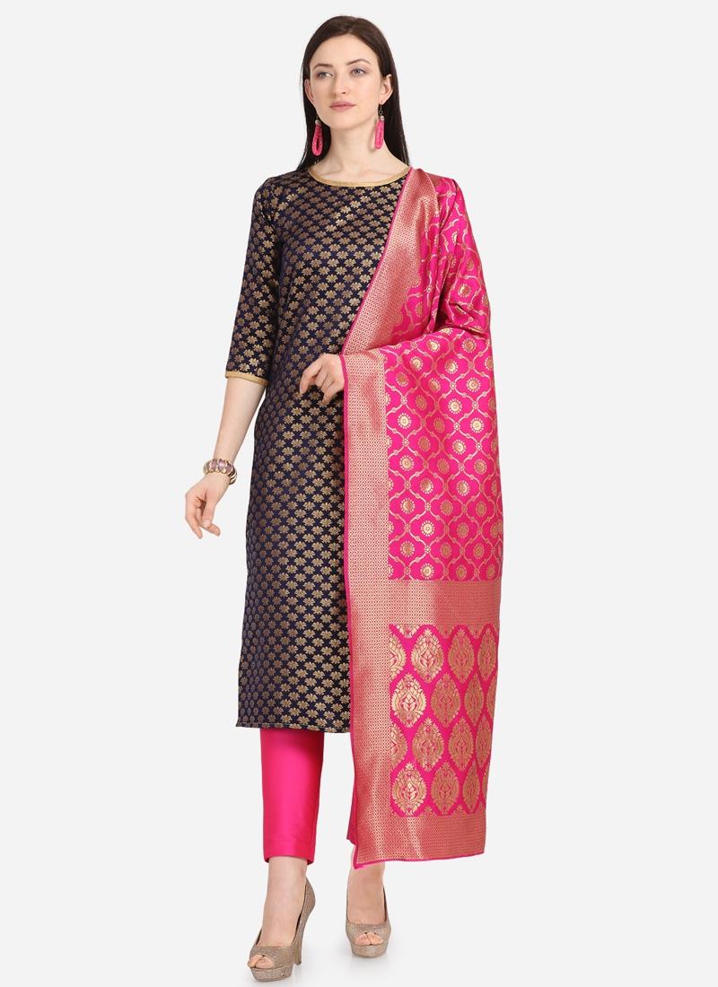 Jacquard  Pant Style Salwar Kameez