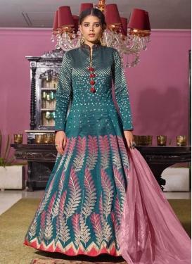 Jacquard Readymade Long Length Gown