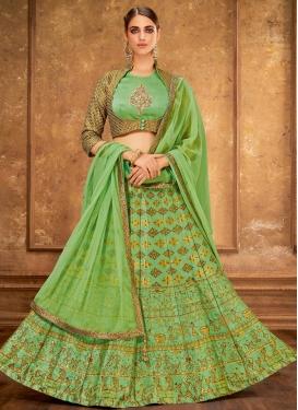 Jacquard Silk A Line Lehenga Choli For Bridal