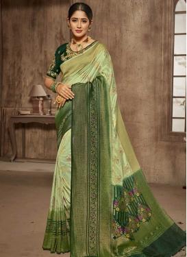 Jacquard Silk Contemporary Style Saree