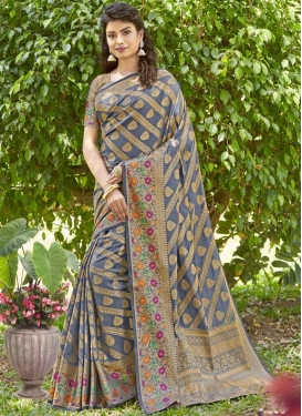 Jacquard Silk Contemporary Style Saree