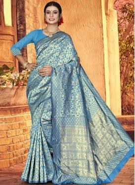 Jacquard Silk Designer Contemporary Saree