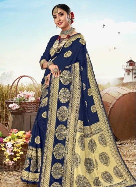 Jacquard Silk Designer Traditional Saree For Casual