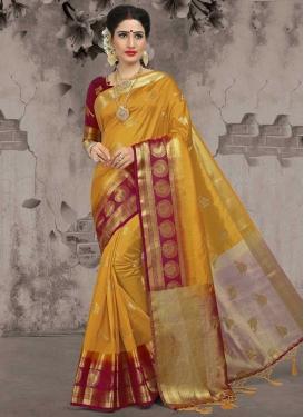 Jacquard Silk Designer Traditional Saree For Festival