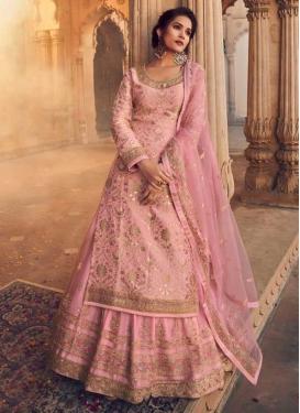 Jacquard Silk Embroidered Work Designer Kameez Style Lehenga Choli