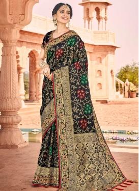 Jacquard Silk Embroidered Work Designer Traditional Saree