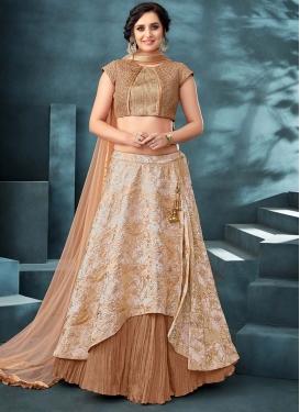 Jacquard Silk Layered Designer Lehenga Choli