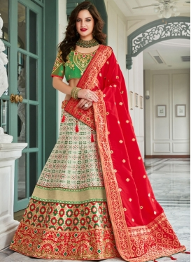 Jacquard Silk Lehenga Choli in Multi Colour