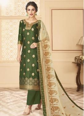 Jacquard Silk Palazzo Style Pakistani Salwar Suit