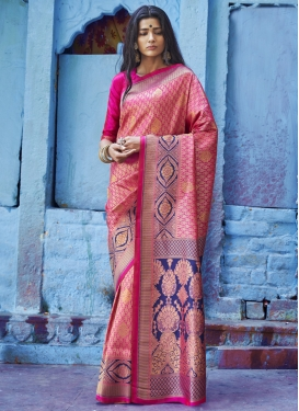 Jacquard Silk Thread Work Contemporary Style Saree