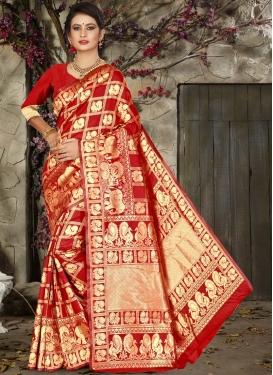 Jacquard Silk Thread Work Designer Contemporary Saree