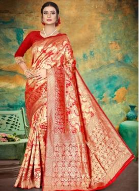 Jacquard Silk Thread Work Designer Traditional Saree