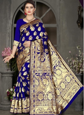 Jacquard Silk Thread Work Traditional Designer Saree