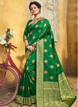 Jacquard Silk Traditional Designer Saree For Ceremonial