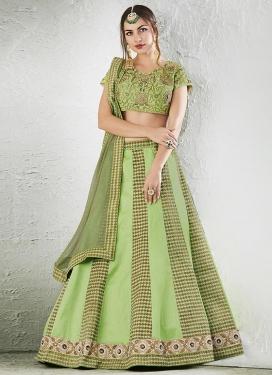 Jacquard Silk Trendy Lehenga