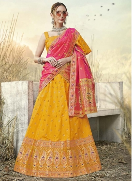 Jacquard Silk Trendy Lehenga Choli