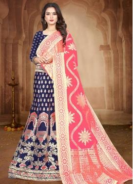 Jacquard Silk Trendy Lehenga Choli For Ceremonial