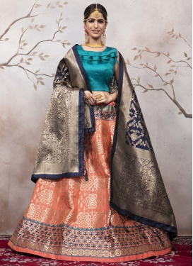 Jacquard Silk Trendy Lehenga Choli For Party