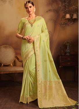 Jacquard Silk Weaving Designer Traditional Saree